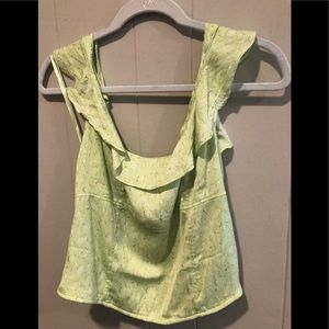 Free people citrine combo tank top L NWT